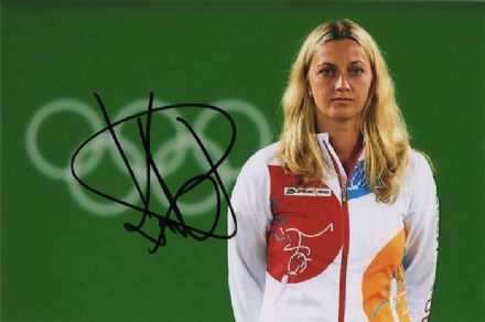 Petra Kvitova, Olympics 2016 Rio, signed 6x4 inch photo.